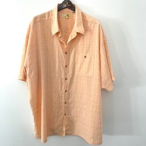 Moda Campia peach button down shirt 4x EUC